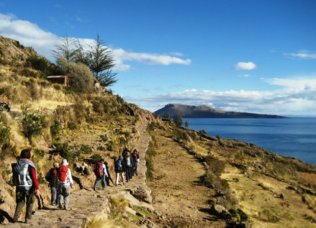 Trekking on Taquile Island