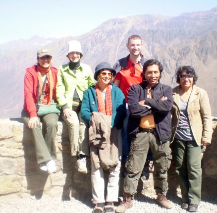 Andres & clients in Colca Canyon