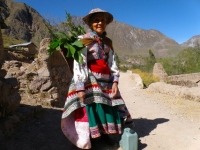 Peruvian woman in Traditional Dress